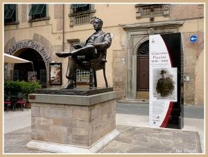 Puccini-Statue in Lucca