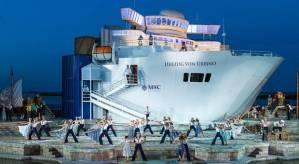 Seefestspiele Mörbisch / Bühnenbild für Eine Nacht in Venedig, Walter Vogelweider