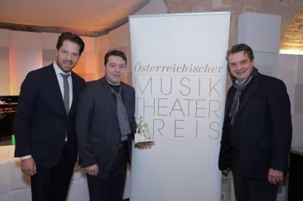 Vorstand Daniel Serafin, Präsident Karl-Michael Ebner, Moderator Christoph Wagner-Trenkwitz